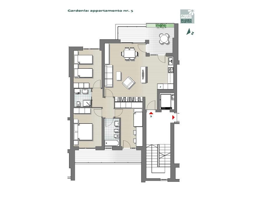 Campo dei Fiori - Gardenia 05, 2° piano -- 0