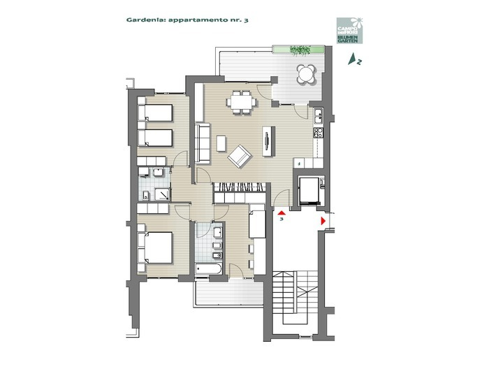 Blumengarten Gardenie 03, 1. Obergeschoss -- 0