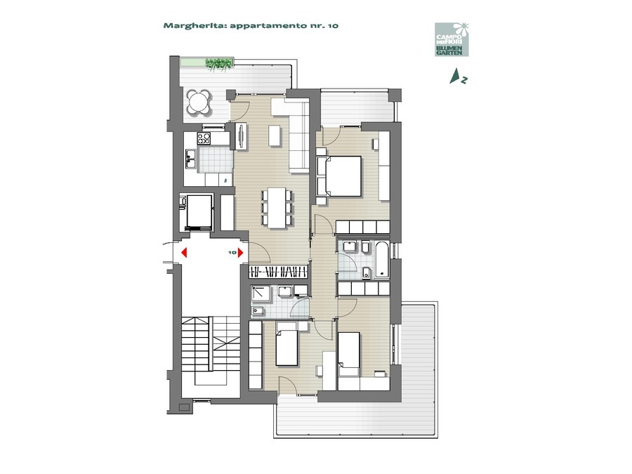Campo dei Fiori - Margherita 10, 5° piano -- 0