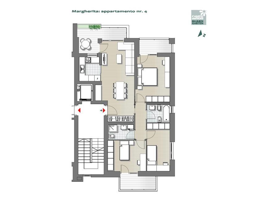 Blumengarten  - Gänseblümchen 04, 2. Obergeschoss -- 0