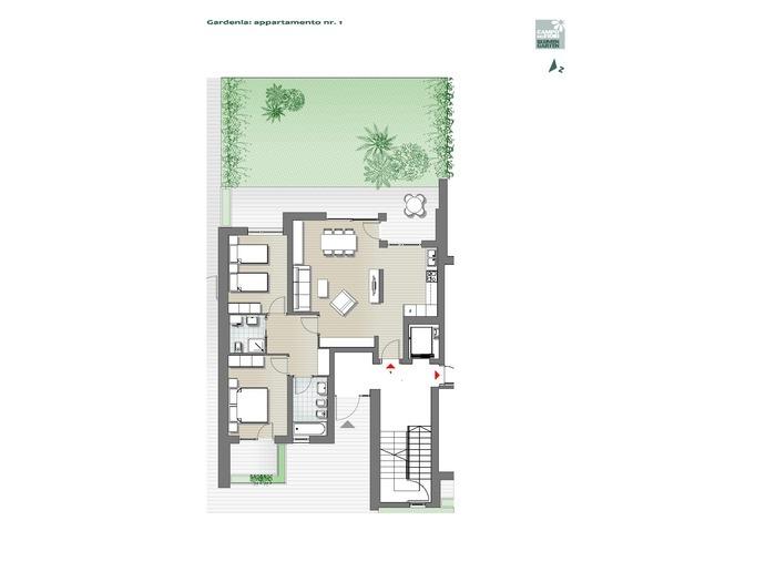 Blumengarten-B1-GA1, Erdgeschoss -- 0