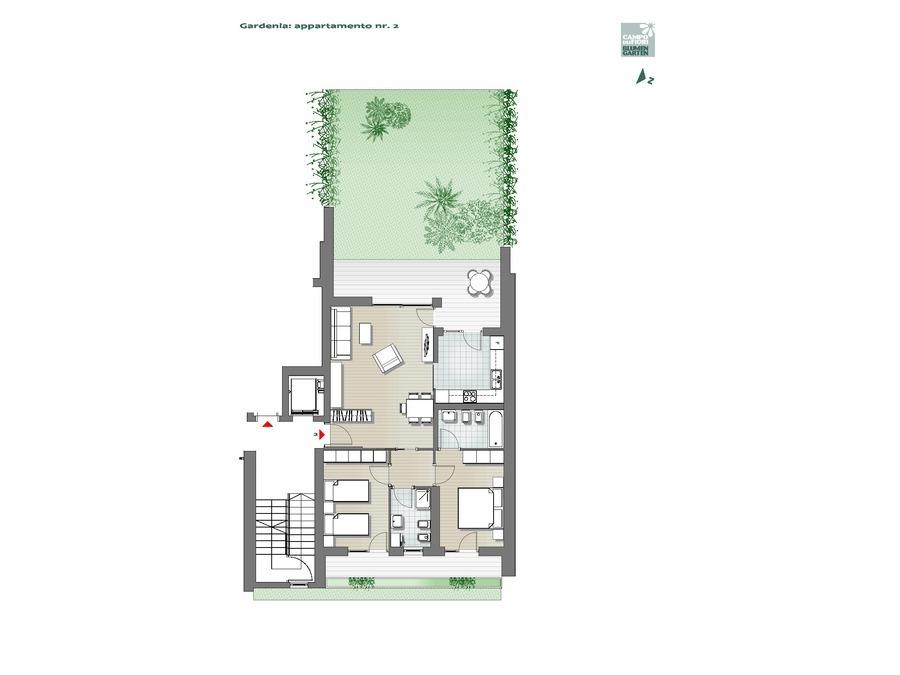 Blumengarten - Gardenie 02, Erdgeschoss -- 0