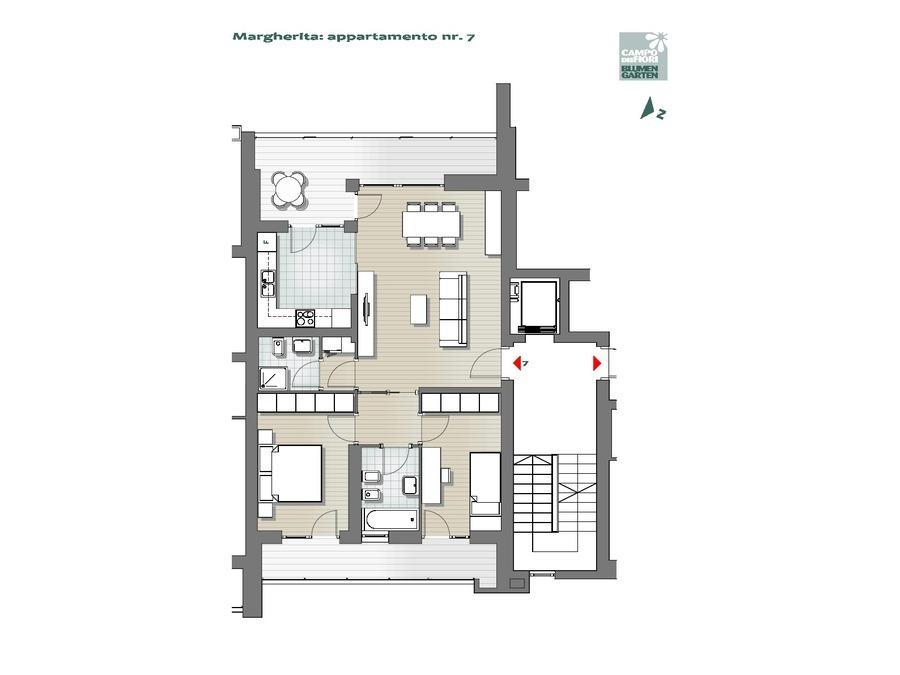 Campo dei Fiori - Margherita 07, 4° piano -- 0