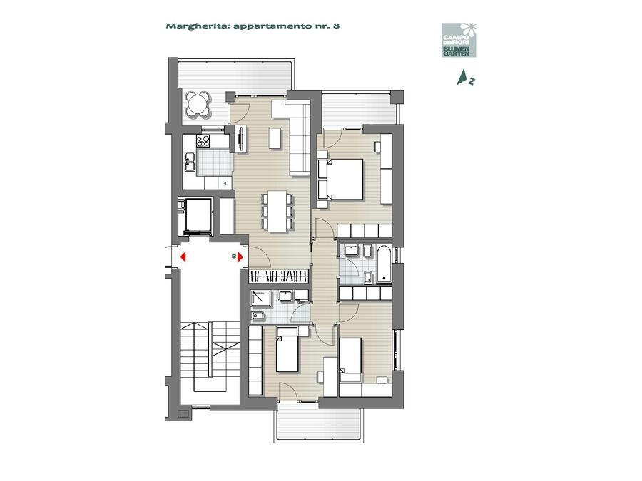 Blumengarten - Gänseblümchen 08, 4. Obergeschoss -- 0