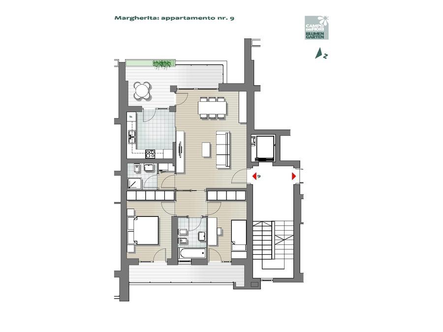 Blumengarten - Gänseblümchen 09, 5. Obergeschoss -- 0