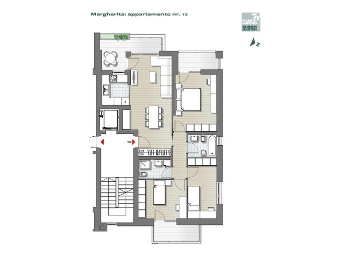 Blumengarten - Gänseblümchen 12, 6. Obergeschoss -- 0