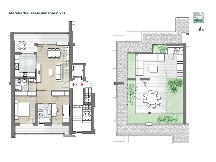 Blumengarten - Gänseblümchen 13, 7. Obergeschoss -- 0