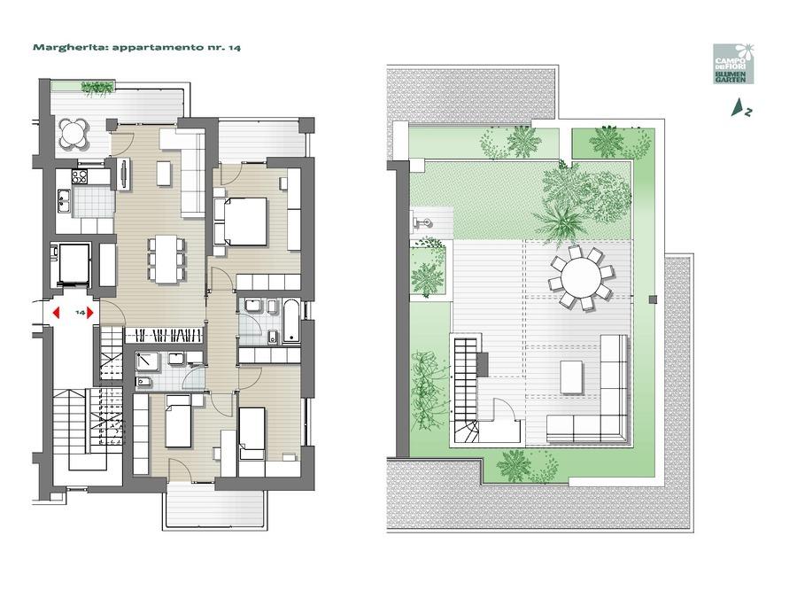 Blumengarten - Gänseblümchen 14, 7. Obergeschoss -- 0