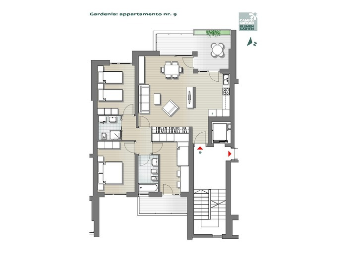 Blumengarten-B1-GA9, 4. Obergeschos -- 0
