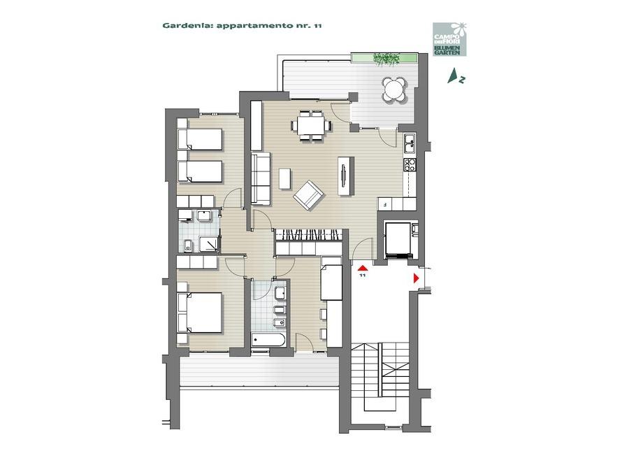 Blumengarten  - Gardenie 11, 5. Obergeschoss -- 0