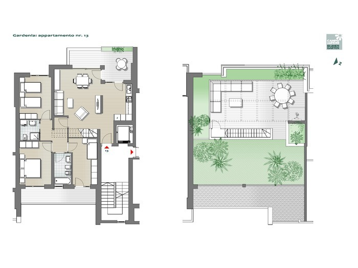 Blumengarten - Gardenie 13, 6. Obergeschoss -- 0