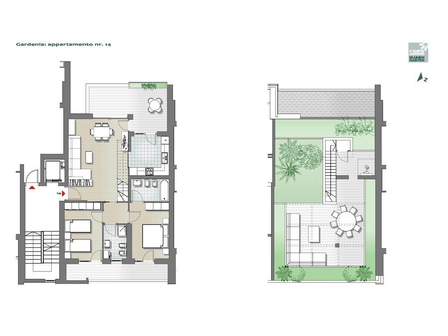 Blumengarten - Gardenie 14, 6. Obergeschoss -- 0