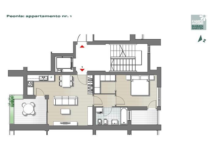 Campo dei Fiori-B2-PE1, 1° piano -- 0