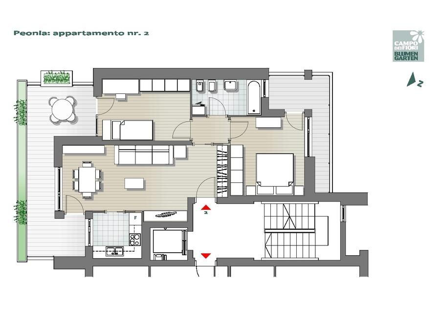Campo dei Fiori - Peonia 02, 1° piano -- 0