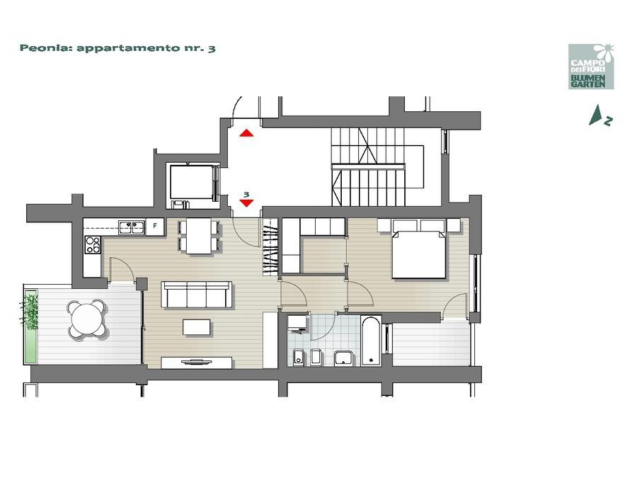 Blumengarten - Pfingstrose 03, 2. Obergeschoss -- 0
