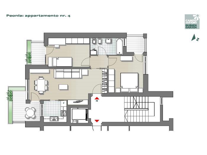Campo dei Fiori-B2-PE4, 2° piano -- 0
