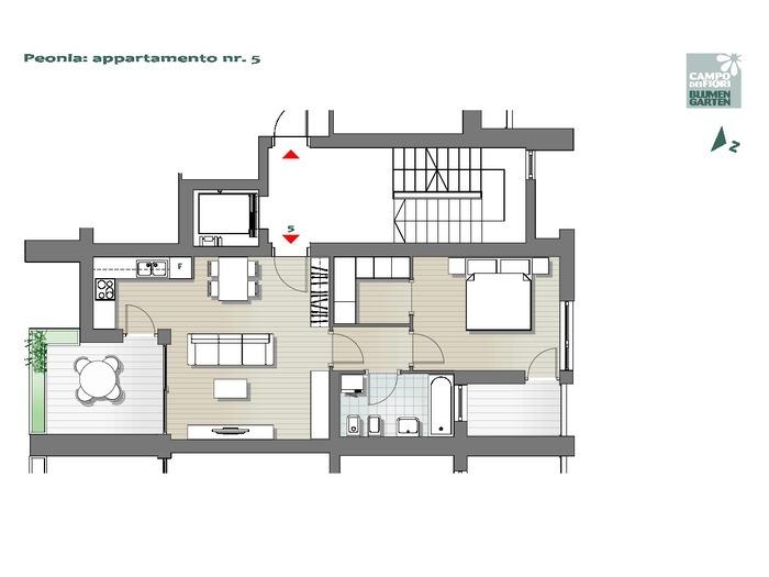 Blumengarten - Pfingstrose 05, 3. Obergeschoss -- 0