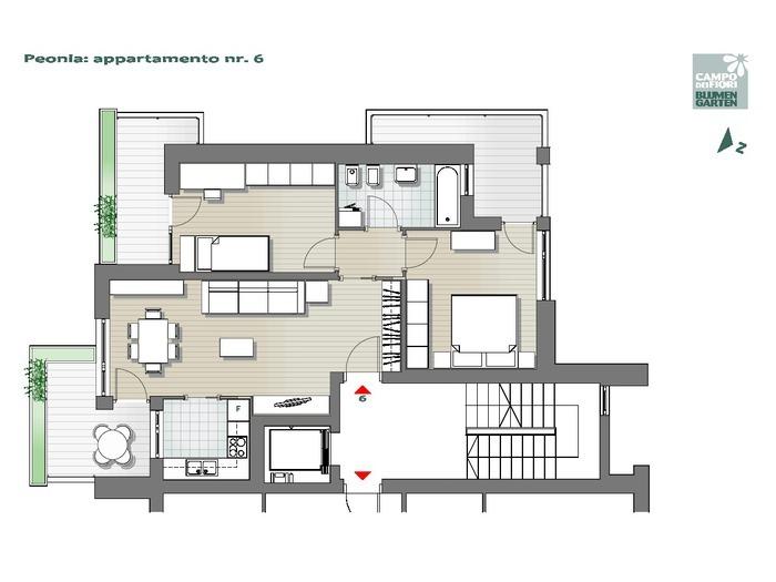 Blumengarten - Pfingstrose 06, 3. Obergeschoss -- 0