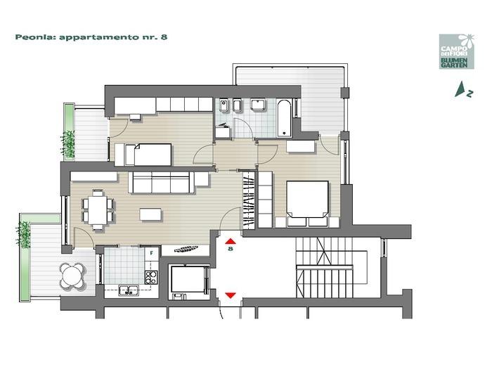 Campo dei Fiori-B2-PE8, 4° piano -- 0