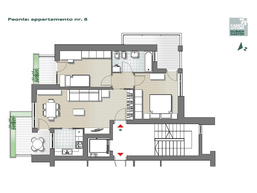 Blumengarten - Pfingstrose 08, 4. Obergeschoss -- 0