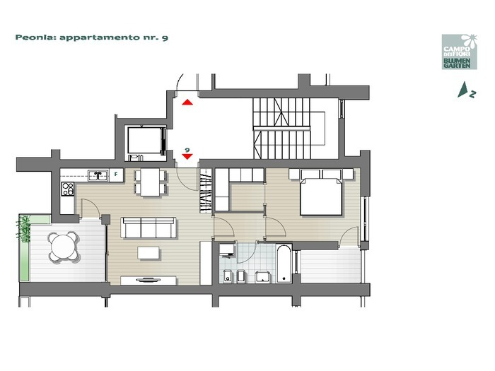 Blumengarten - Pfingstrose 09, 5. Obergeschoss -- 0