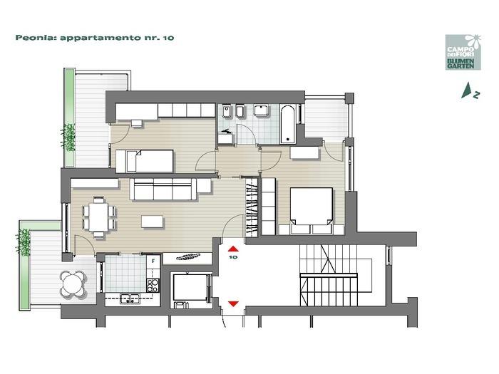 Blumengarten - Pfingstrose 10, 5. Obergeschoss -- 0