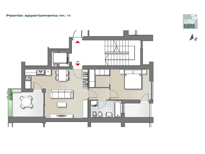 Blumengarten-B2-PE11, 6. Obergeschoss -- 0