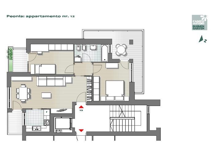Campo dei Fiori-B2-PE12, 6° piano -- 0
