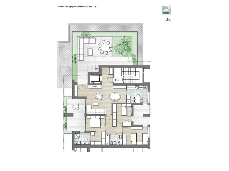 Blumengarten - Pfingstrose 13, 7. Obergeschoss -- 0