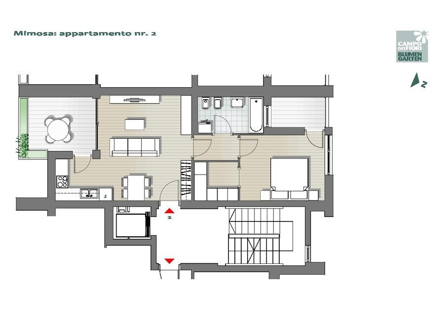 Campo dei Fiori - Mimosa 02, 1° piano -- 0