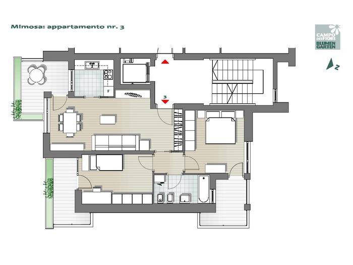 Campo dei Fiori-B2-MI3, 1° piano -- 0