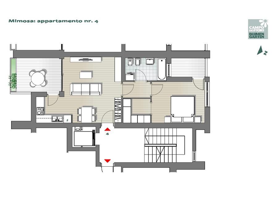 Blumengarten - Mimose 04, 2. Obergeschoss -- 0