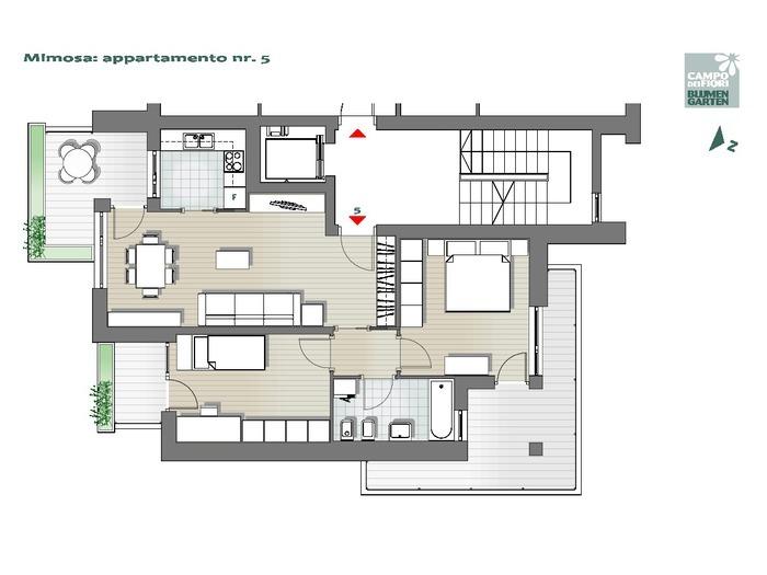 Blumengarten - Mimose 05, 2. Obergeschoss -- 0