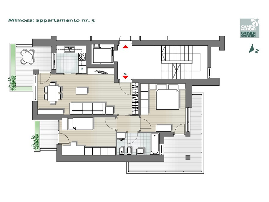 Campo dei Fiori - Mimosa 05, 2° piano -- 0