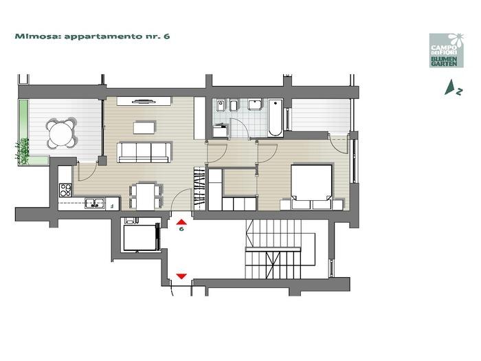 Blumengarten - Mimose 06, 3. Obergeschoss -- 0