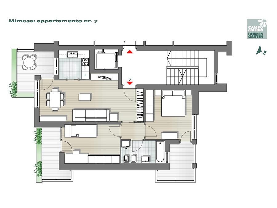 Campo dei Fiori - Mimosa 07, 3° piano -- 0