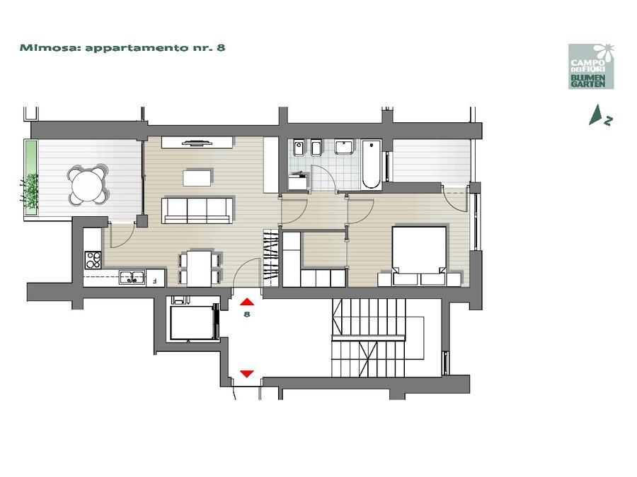 Campo dei Fiori - Mimosa 08, 4° piano -- 0