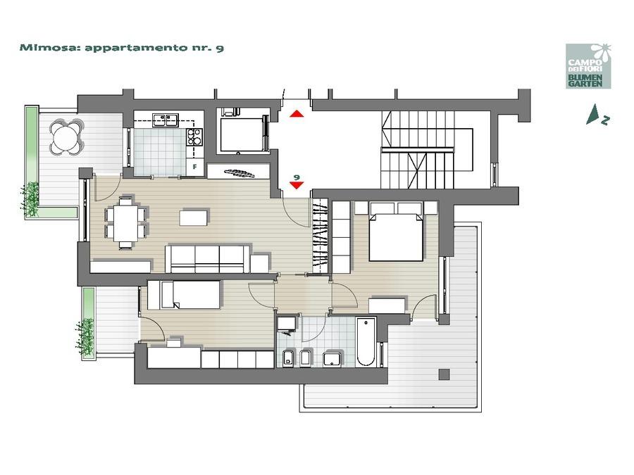 Campo dei Fiori - Mimosa 09, 4° piano -- 0