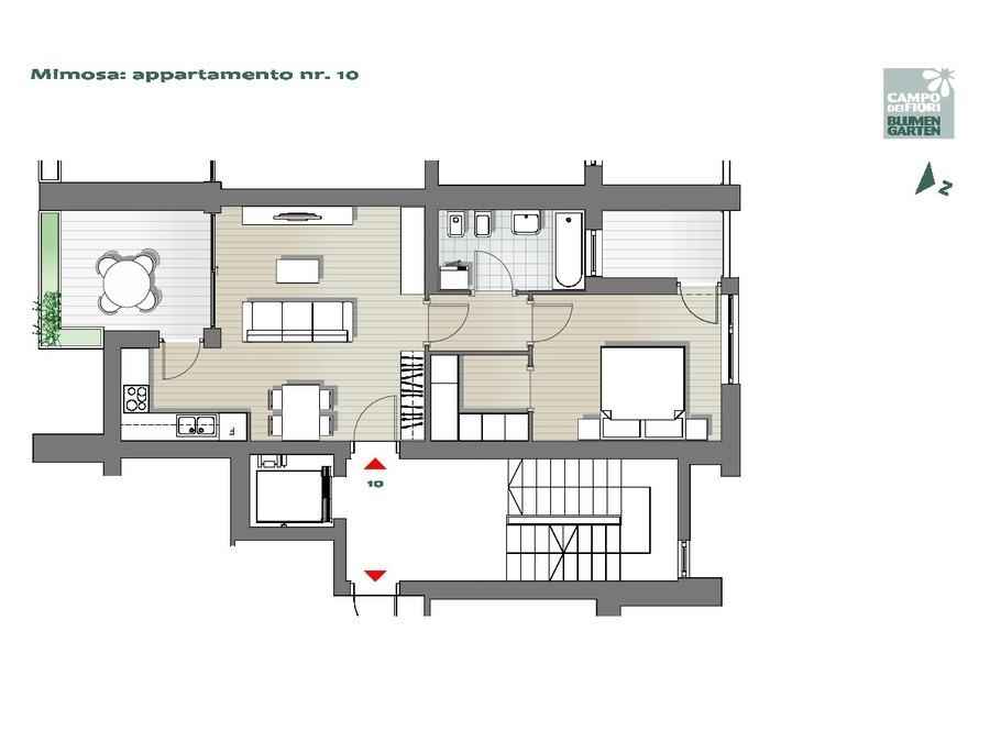 Blumengarten - Mimose 10, 5. Obergeschoss -- 0