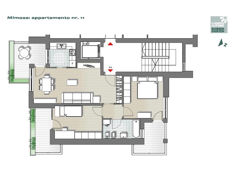 Blumengarten - Mimose 11, 5. Obergeschoss -- 0