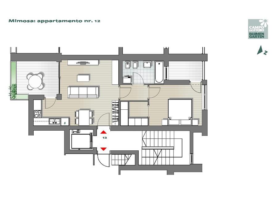 Blumengarten - Mimose 12, 6. Obergeschoss -- 0