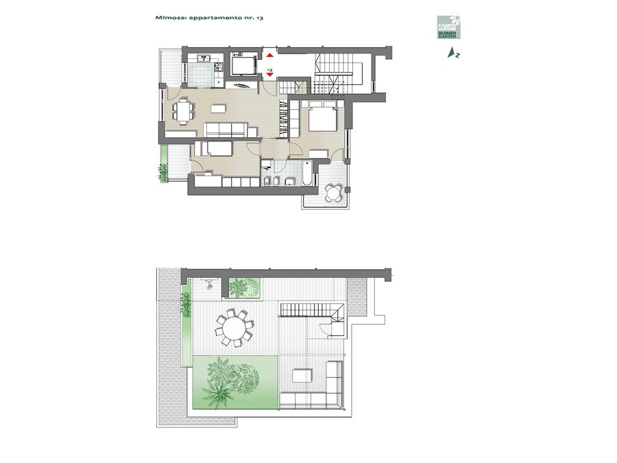 Blumengarten - Mimose 13, 6. Obergeschoss -- 0