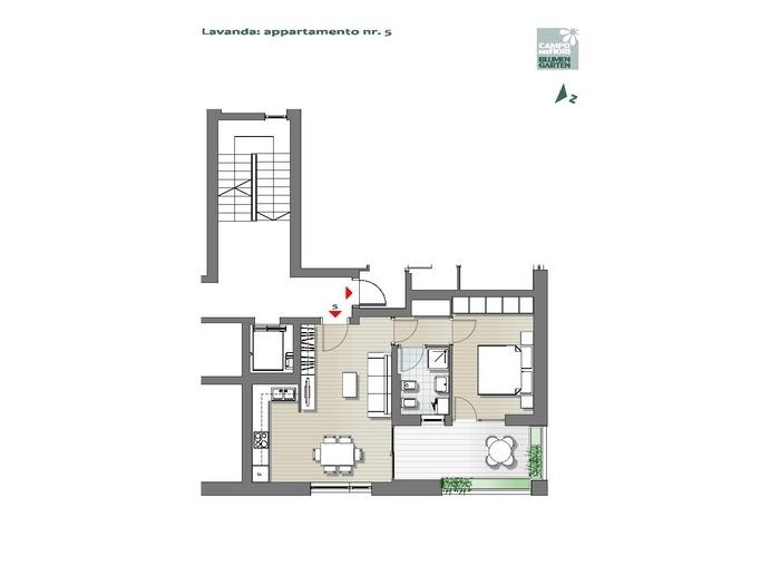 Blumengarten - Lavendel 05, 1. Obergeschoss -- 0