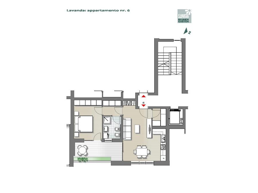 Blumengarten - Lavendel 06, 1. Obergeschoss -- 0