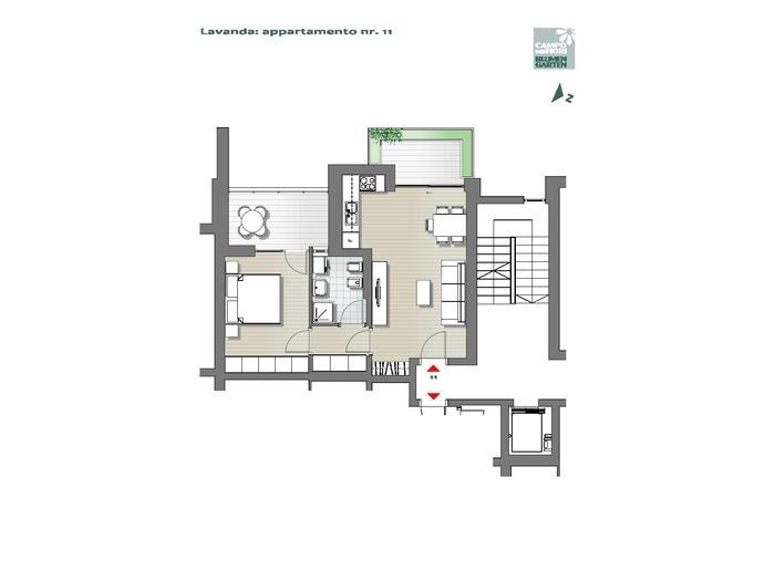 Blumengarten-B3-LA11, 2. Obergeschoss -- 0