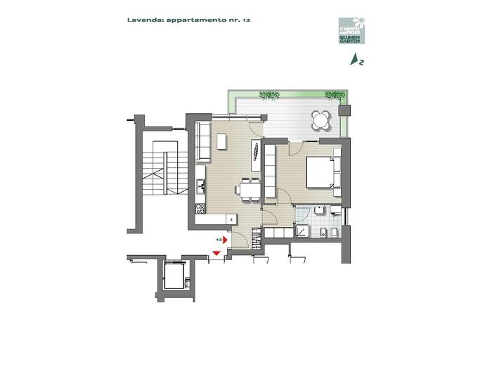 Blumengarten-B3-LA12, 3. Obergeschoss -- 0