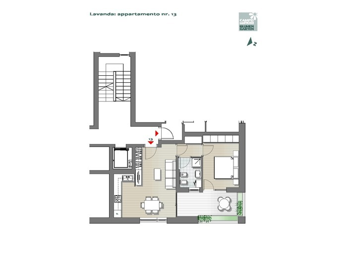Campo dei Fiori-B3-LA13, 3° piano -- 0