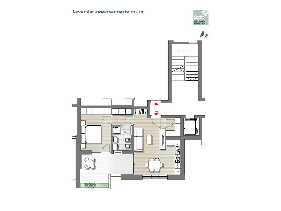 Campo dei Fiori - Lavanda 14, 3° piano -- 0