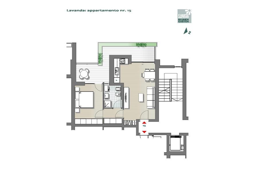 Campo dei Fiori - Lavanda 15, 3° piano -- 0