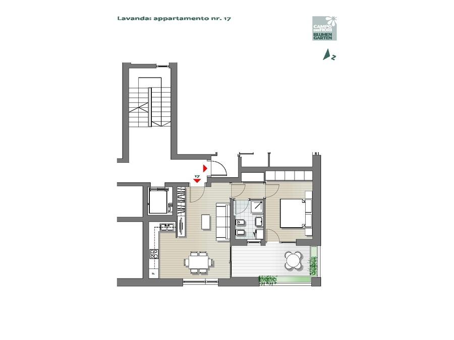 Blumengarten - Lavendel 17, 4. Obergeschoss -- 0